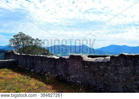 Photo Of The Peaks Of The Beskydy Mountains On The Horizon Taken From The Castle Viewpoint, Nature A