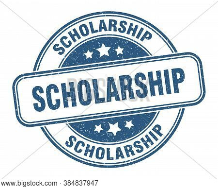 Scholarship Stamp. Scholarship Round Grunge Sign. Label