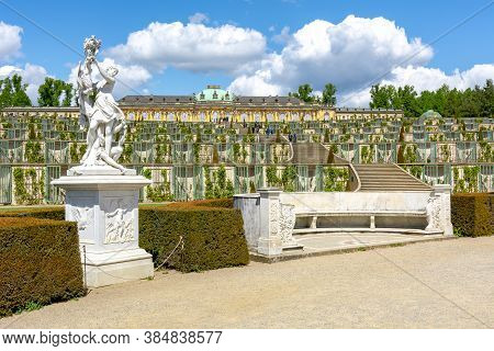 Sanssouci Palace And Park In Spring, Potsdam, Germany - May 2019