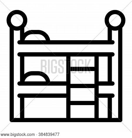 Quiet Spaces Bunk Bed Icon. Outline Quiet Spaces Bunk Bed Vector Icon For Web Design Isolated On Whi
