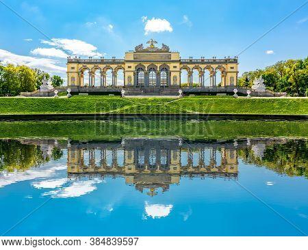 Gloriette Pavilion In Schonbrunn Park, Vienna, Austria - May 2019