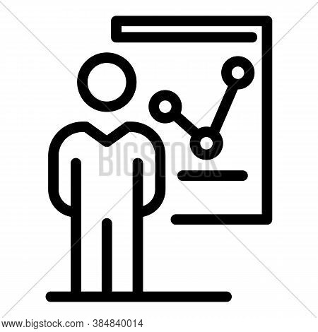 Outsource Graph Chart Icon. Outline Outsource Graph Chart Vector Icon For Web Design Isolated On Whi