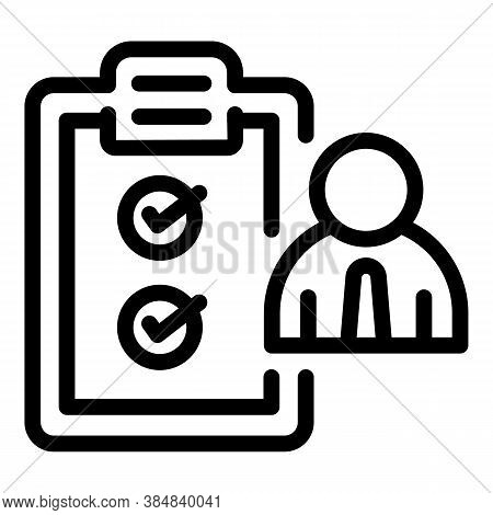 Outsource To Do List Icon. Outline Outsource To Do List Vector Icon For Web Design Isolated On White