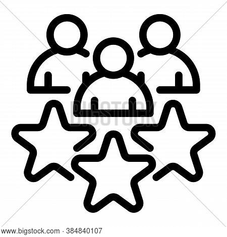 Outsource Star Team Icon. Outline Outsource Star Team Vector Icon For Web Design Isolated On White B