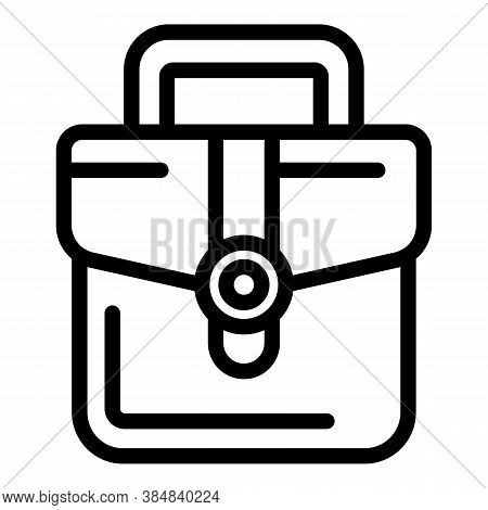 Outsource Leather Bag Icon. Outline Outsource Leather Bag Vector Icon For Web Design Isolated On Whi