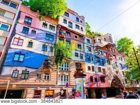 Hundertwasser House In Vienna, Austria - May 2019