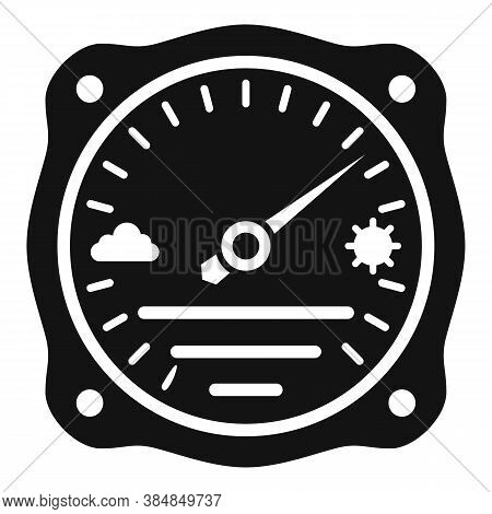 Atmosphere Barometer Icon. Simple Illustration Of Atmosphere Barometer Vector Icon For Web Design Is