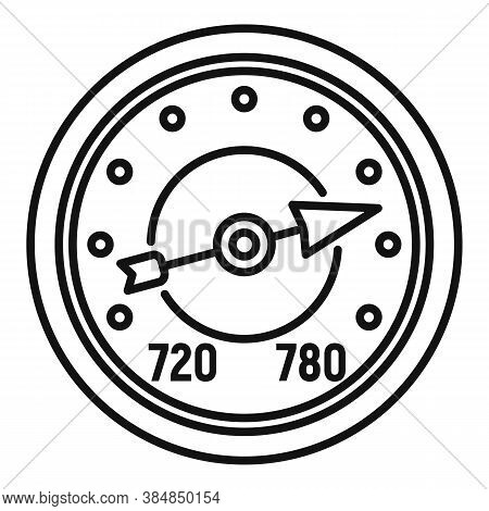 Analog Barometer Icon. Outline Analog Barometer Vector Icon For Web Design Isolated On White Backgro