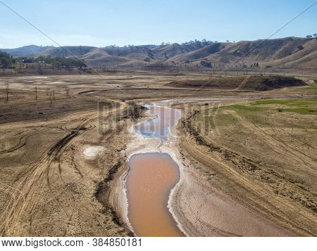 The Water Is Disappearing From The North End Of Lake Eildon - Bonnie Doon, Victoria, Australia