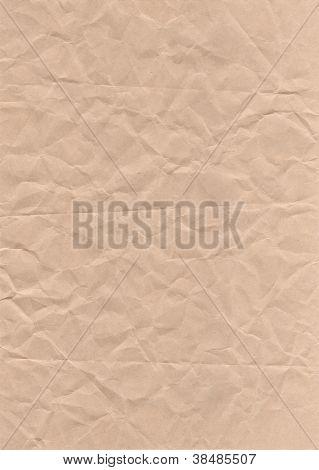 Brown Crumpled Paper Vintage