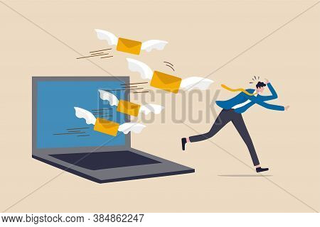 Email Overload Too Many Junk Mails That Reduce Efficiency And Productivity In Work And Time Manageme
