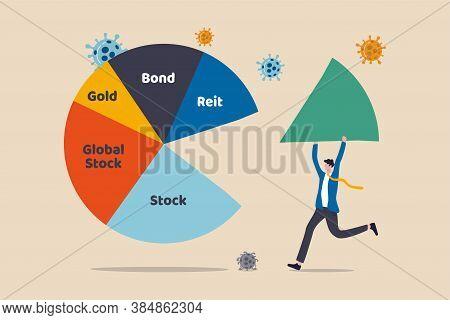 Asset Allocation Investment Or Risk Management In Covid-19 Coronavirus Crash Causing Economic Recess