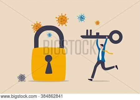 Unlock Or Reopen Covid-19 Coronavirus Lockdown, Restart Business As Usual To Restore Economic Recess