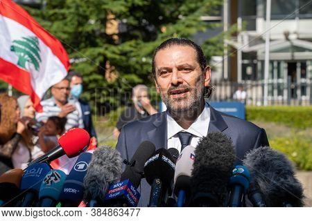 Leidschendam, 18 August 2020 - Saad Hariri, Ex-lebanon Prime Minister Commenting The Special Tribuna