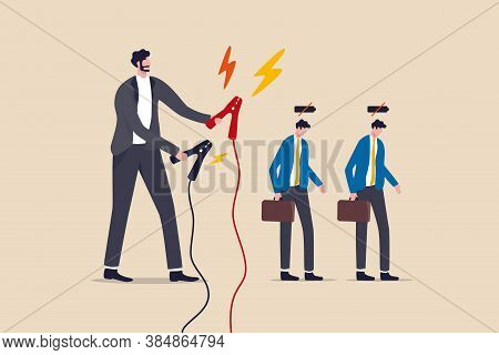 Employee Recharge To Boost Productivity, Boost Energy To Work Or Recharge After Long Time Coronaviru