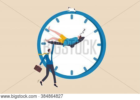 Work Life Balance, Work Overtime, People Work Late When Work From Home, Personal Time Blend With Wor