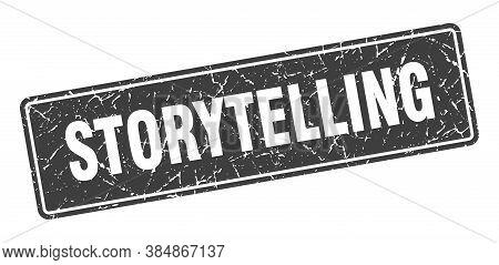 Storytelling Stamp. Storytelling Vintage Black Label. Sign
