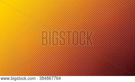 Gradient Halftone. Cover For Comics. Abstract Gradient Background Of Black Dots. Vector Illustration