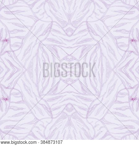 Pink African Print. Watercolor Animal Skin Pattern. Pastel Abstract Tiger Background. Wild Stripes D