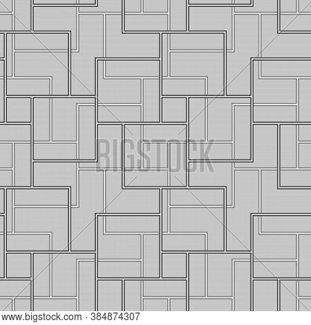 Modern Parquet Vector. Color Geometrical Figures Tessellation Background. Seamless Surface Pattern D