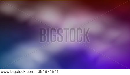 Colored Smoke. Realistic Fog In Neon Light. Dark Purple, Blue And Pink Colors On Foggy Abstract Back