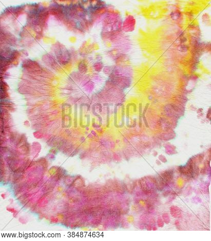 Abstract Pattern With Psychedelic Spiral. Color Kaleidoscope. Hippie Old Paint. Batik Design For Mat