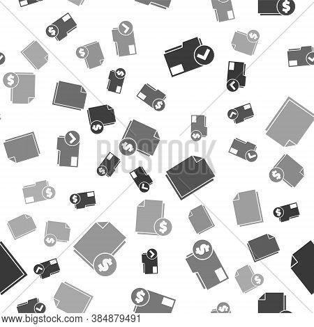 Set Document Folder And Check Mark, Finance Document Folder, Document And Finance Document On Seamle