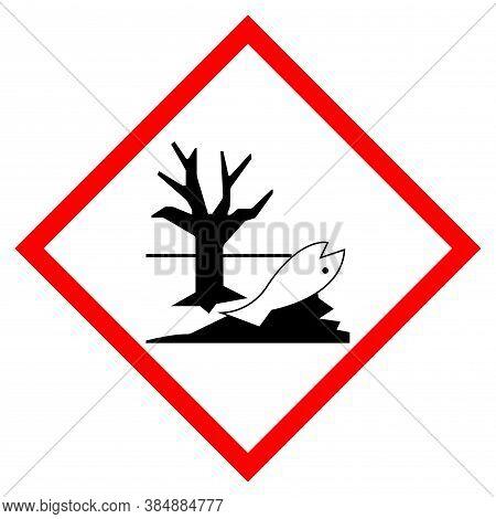 Environmental Hazard Symbol Sign, Vector Illustration, Isolate On White Background, Label .eps10
