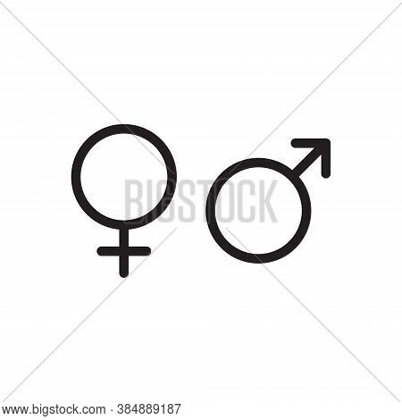 Gender Symbol Set. Male And Female Sign. Man And Woman Symbols. Venus And Mars Astrology Logo. Vecto