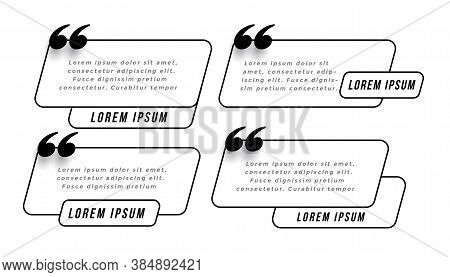 Speedy Quotes Template In Line Style Vector