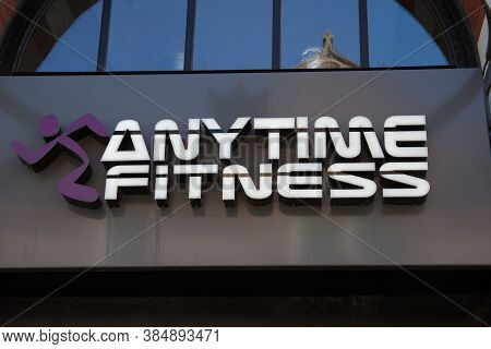 Dorchester, Dorset, Uk 07 20 2020 The Anytime Fitness Gym Chain In Dorchester, Dorset In The Uk