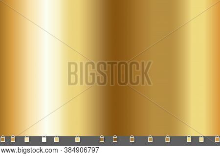 Light, Realistic, Elegant, Shiny, Metallic And Gold Gradient Vector Illustration. Shiny Golden Metal