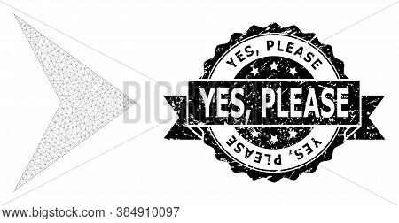 Yes, Please Rubber Seal And Vector Right Direction Mesh Structure. Black Seal Has Yes, Please Tag In