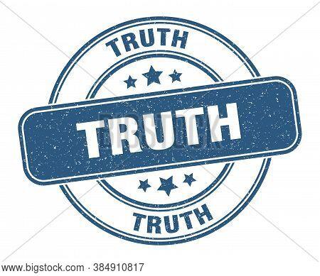 Truth Stamp. Truth Label. Round Grunge Sign