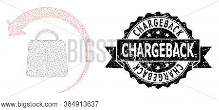Chargeback Scratched Watermark And Vector Refund Shopping Mesh Structure. Black Seal Has Chargeback