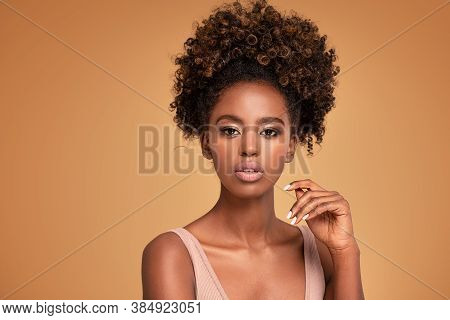 Beautiful Photo Of Attractive Afro Woman