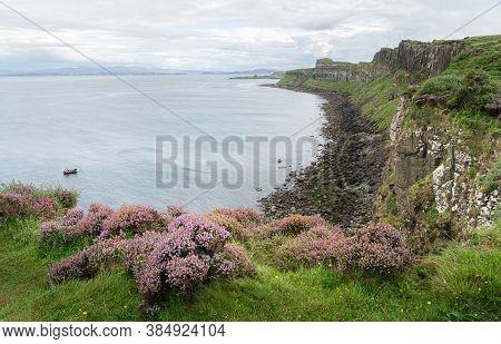 View Of Kilt Rock Coastline On The Isle Of Skye, Highlands Of Scotland