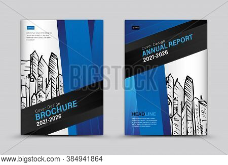 Brochure Cover Design, Annual Report, Blue Cover Template, Brochure Flyer Template, Banner, Web Page