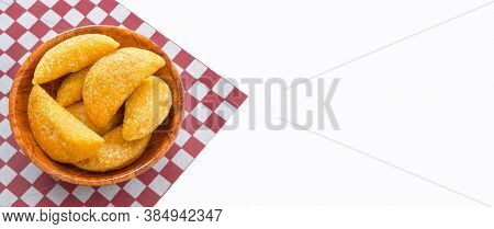 Delicious Empanadas - Colombian Cuisine. White Background