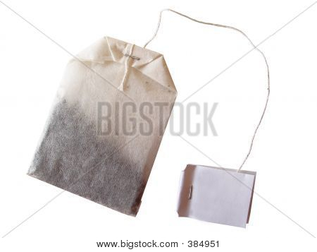 specialty tea bag isolated on white background poster