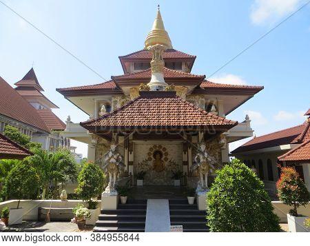 Badung, Bali, Indonesia - September 26, 2019: Vihara Buddha Guna In Puja Mandala Worship Complex. Th