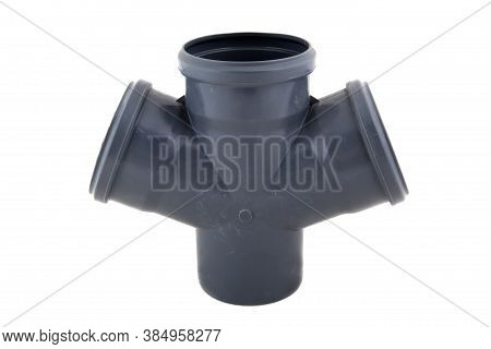 Pvc Plastic Pipe For Sewers, Isolated On White
