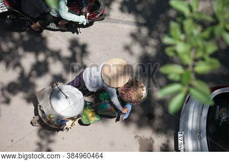 Hanoi, Vietnam, August 23, 2015: Life in Vietnam- Hanoi,Vietnam Street vendors in Hanoi\'s Old Quart