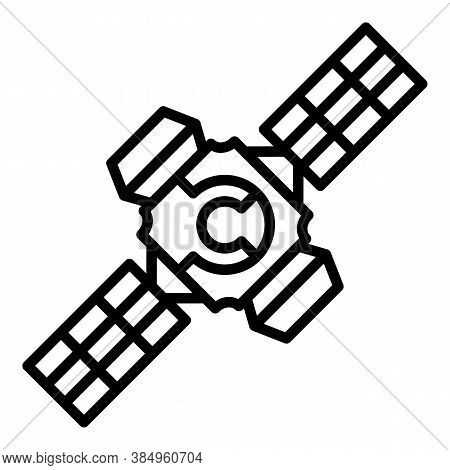 Space Station System Icon. Outline Space Station System Vector Icon For Web Design Isolated On White