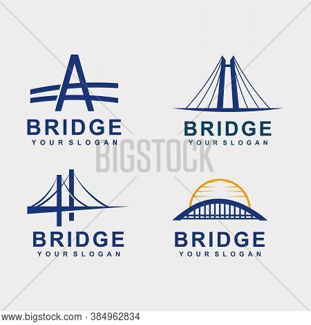 Bridge Logo Template Design Icon Vector Illustration