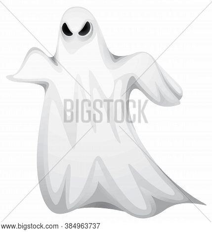Ghost Web Icon, Halloween Element, Vector, Eps 10