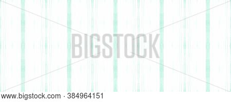 Seamless Watercolor Stripes. Green Hand Paint Stroke Wallpaper. Vertical Acrylic Effect. White Brush