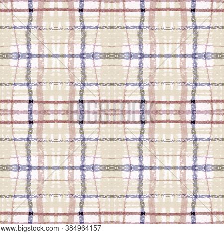 Plaid Pattern. Pale Picnic Texture. Irish Buffalo Kilt. Seamless Vintage Blanket. Geometric Plaid Pa