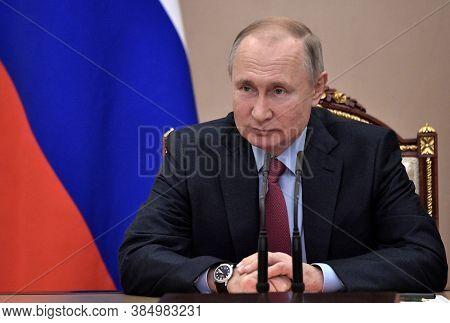 Kremlin,russia,january 2020,russia President Vladimir Putin In Meeting In Kremlin