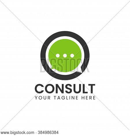 Modern Consulting Logo Design, Consultant Icon -vector